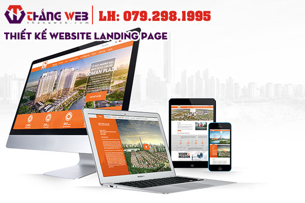Thiết kế website landing page đẹp - Thắng Web