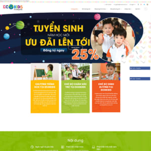 Mẫu website trường mầm non Ecokids TW111