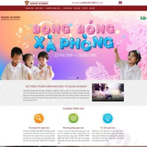 Mẫu website trường mầm non Academy TW113