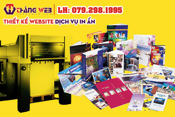 Thiết kế website dịch vụ in ấn Thắng Web