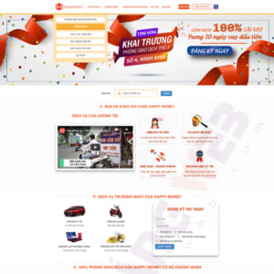 Mẫu website cầm đồ Happy Money TW137