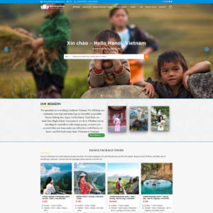 Mẫu website du lịch Ha Noi Capital Travel TW149
